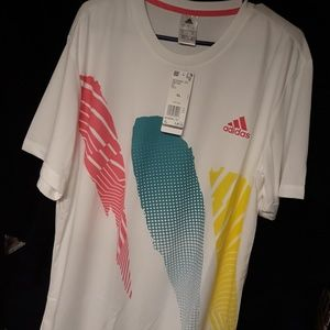 Adidas seasonal tennis shirt made with UVA feature